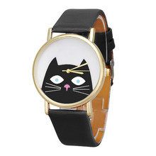 Lovely Cat Face Quartz Wrist Watche