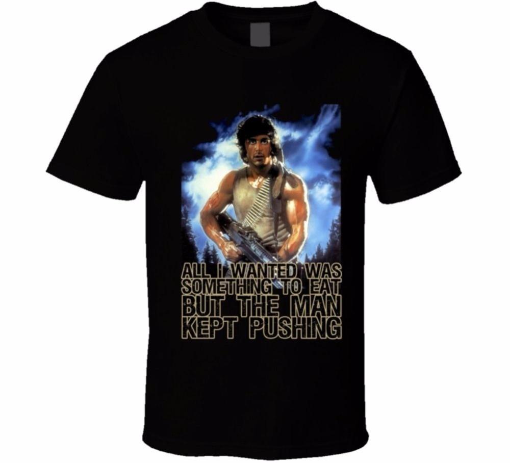 Cheap T Shirts Online Mens Crew Neck John Rambo Stallone First