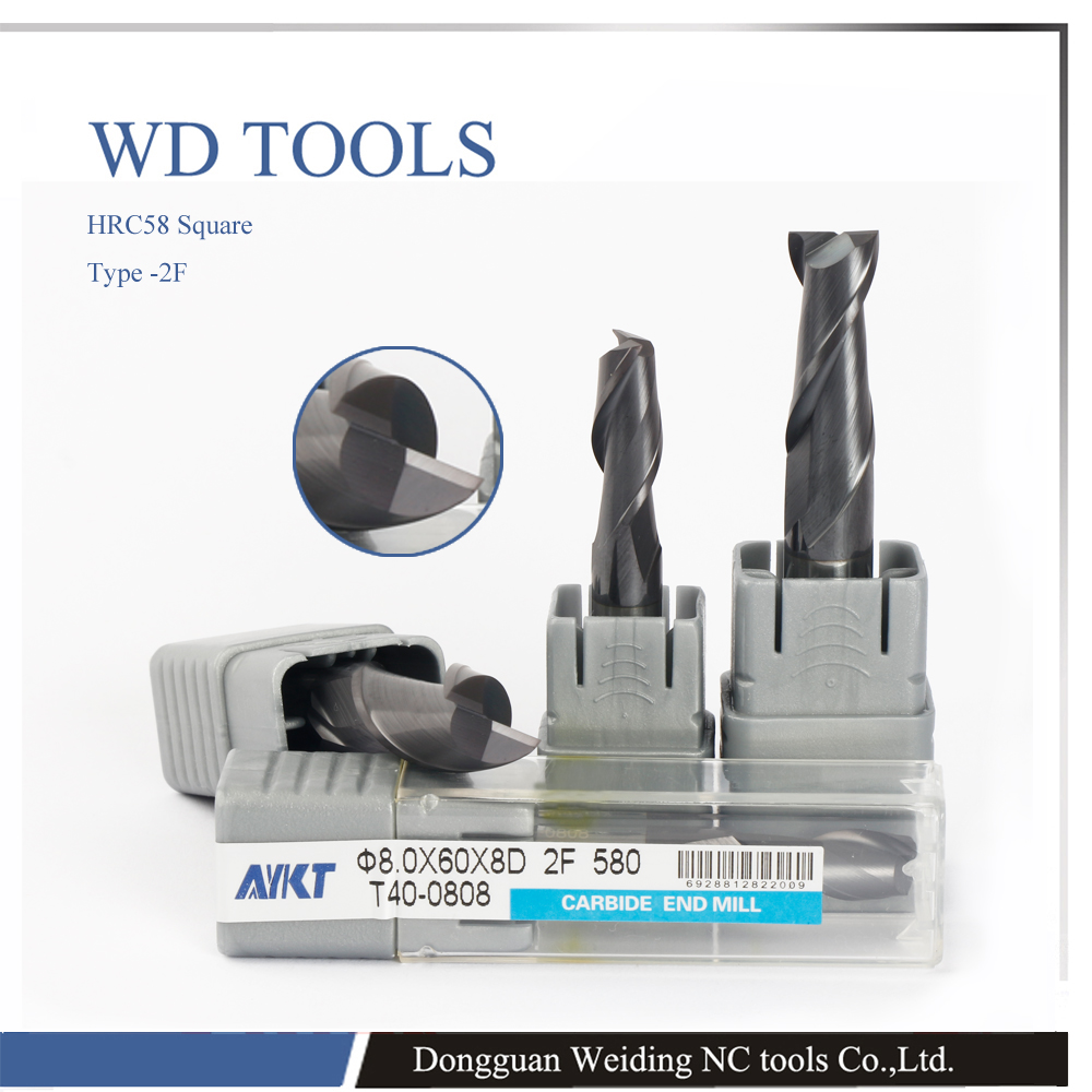 ФОТО HRC58 12.0X100LX12D*100L*2F HV3300 solid Tungsten carbide Coated squareTaper End Mill cone type cnc milling cutter tool