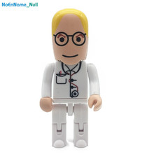 Cartoon Robot Medical usb Flash Drive Doctor USB memory 2.0 4GB 8GB pendrive 16GB pen drive 32GB 64GB 128gb Nurse Free Shipping