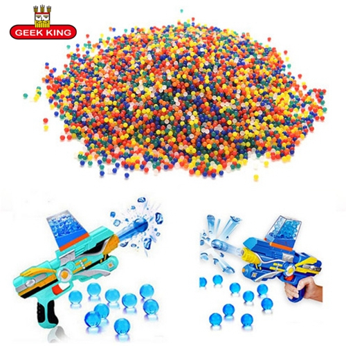 1 kg/lot 7-8mm Cristal balles Pistolets À Eau Pistolet Jouets Croissante De Cristal Boules De L'eau Mini Rond D'eau Du Sol perles enfants jouets