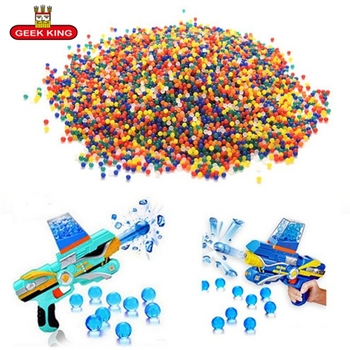 1kg/lot 7-8mm Crystal bullets Water Guns Pistol Toys Growing Crystal Water Balls Mini Round Soil Water Beads kids toys 1kg lot 100