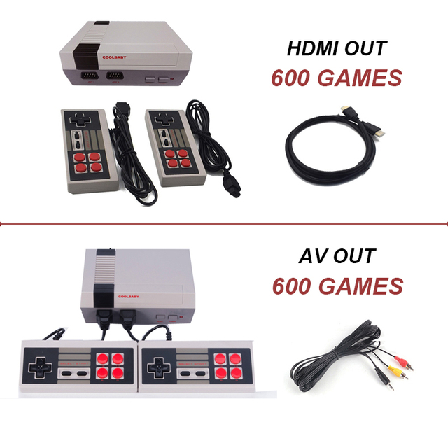 Mini HDMI/AV Video Game Console Built-in 600 Classic Games Handheld Game Player Retro Childhood TV Game Console for Kid's Gift