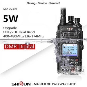 Image 2 - Hot dmr tyt MD 390 rádio dmr com gps impermeável ip67 walkie talkie md 390 rádio digital de banda dupla vhf uhf dmr baofeng