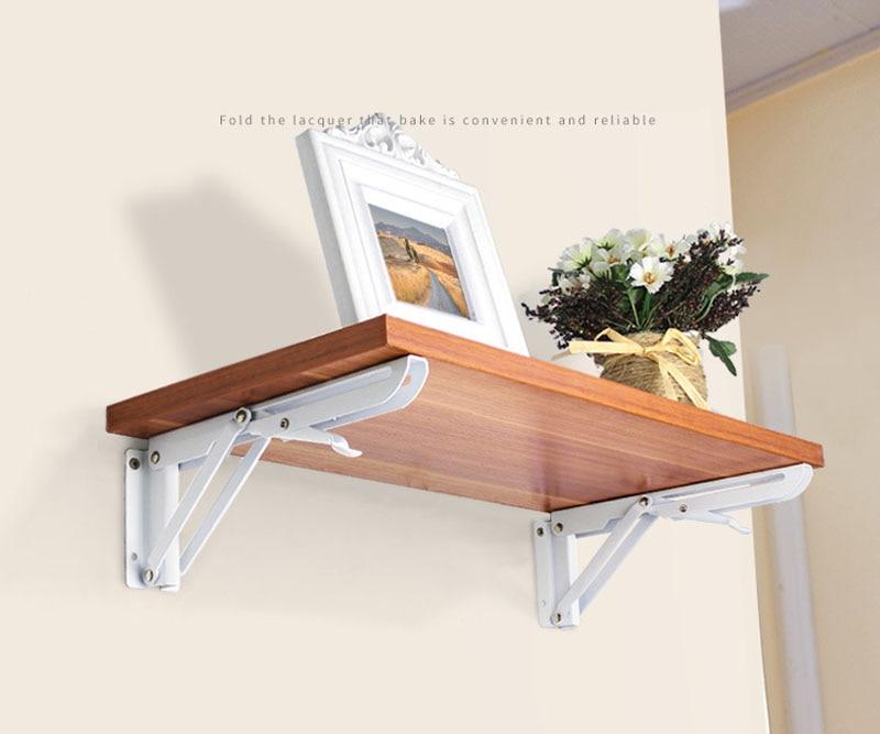 Hierro plegable estante triángulo soporte pared tablilla estantería ...
