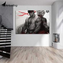 1 Pc Canvas Art Painting Streetfighter Brotherhood Hd Printed Wall