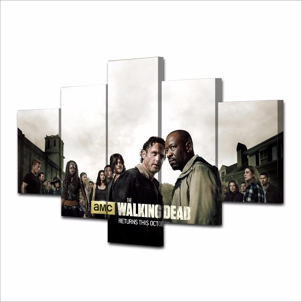 5 Teile/satz Gerahmte HD Gedruckt The Walking Dead Staffel Bild ...