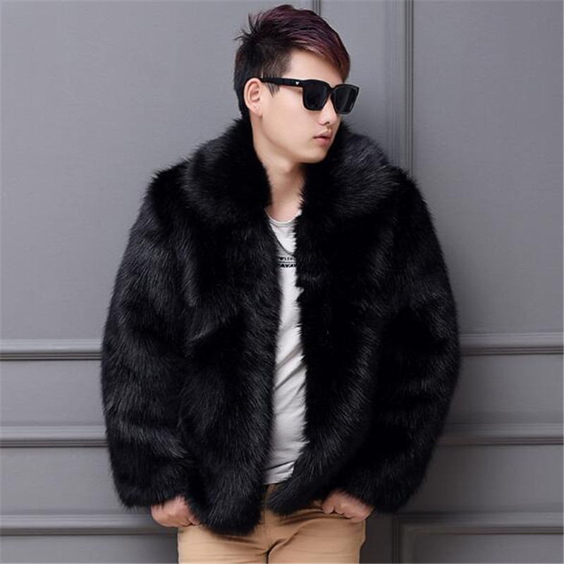 2018 new autumn winter high quality imitation fox fur thickened mink leisure warm fur coat