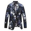 Модные костюмы для мужчин печатных популярная Мужчины весна случайные костюмы Мужской Тонкий Высококачественный Большой размер Бесплатная доставка Гент-жизнь