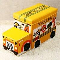 Cute Folding Toys Storage Box Children Cartoon Storage Organizer For Sundries Large Capacity Storage Stool New Organizer Bins