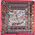 New Women Scarf Royan 35in 90cm Abstract Art Potala Palace Pattern Brand Silk Scarf Women Clothing Accessories SH15102861