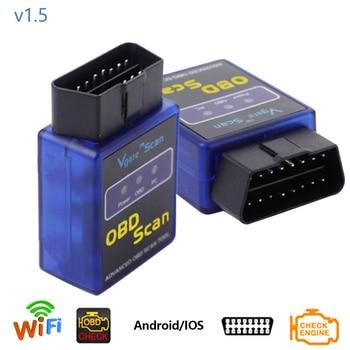 Dewtreetali OBD2 WIFI adaptateur outil de Diagnostic de voiture automatique Interface de Scanner de Diagnostic automatique sans fil ELM 327 mini OBD2/OBD II