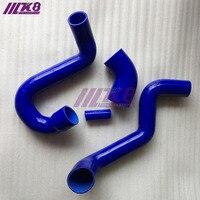 Turbo boost mangueira silicone mangueira kit apto para saab 95 98-08 (4 peças) vermelho/azul/preto