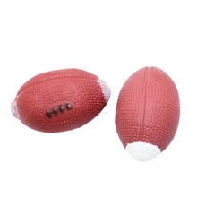 Dog Toys For Small Large Dogs 1 PC Pet Squeak Ball Toys Training Rubber Rugby Puppy Chew Toys Dog Supplies Wholesale noJE12