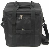 33L Waterproof Portable Fabric Thermal Lunch Cooler Bag Black Large Volume Men Picnic Storage Bag