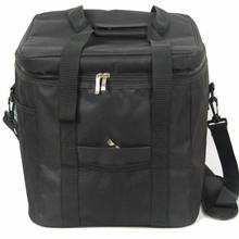 33L Waterproof Portable Fabric Thermal Lunch Cooler Bag Black Large Volume Men Picnic Storage Bag