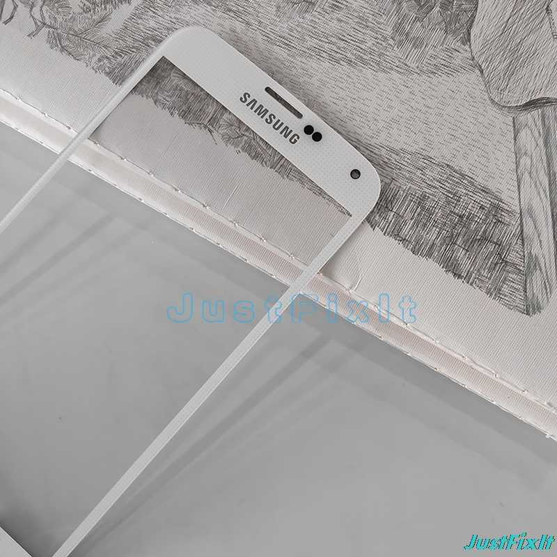 استبدال شاشة إل سي دي باللمس عدسات زجاجية للشاشة لسامسونج غالاكسي S5 G900F G900I S5 البسيطة G800F لمس لوحة الجبهة الزجاج