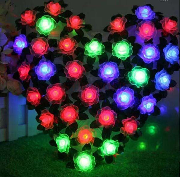 new 70 pieces rose big love led string light holiday christmas window decoration wedding supplies birthday