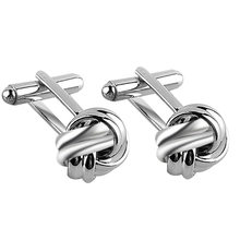 09b6788319bf Funny Round Silk Knot Cufflinks Silver Gold Hollow Cuff Links For Mens  Women Cool Shirt Spinki Jewelry Male Cufflings Jewelry
