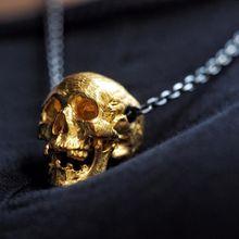Unique High Quality Gold Color Disease Skull Pendant Necklace Punk Mens Biker Jewelry