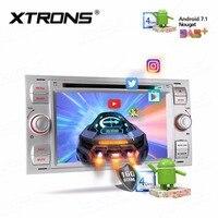 7 HD Android 7,1 цифровой мульти сенсорный экран автомобильный dvd плеер gps для Ford Focus II C Max S Max Kuga Fusion Tramsit Fiesta
