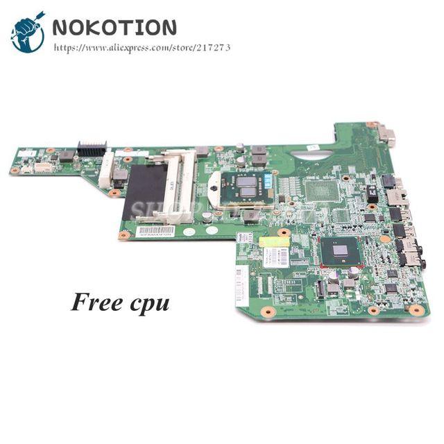 NOKOTION 615849-001 605903-001 Laptop Motherboard For HP G62 G72 CQ62 HM55 UMA DDR3 MAIN BOARD Free CPU