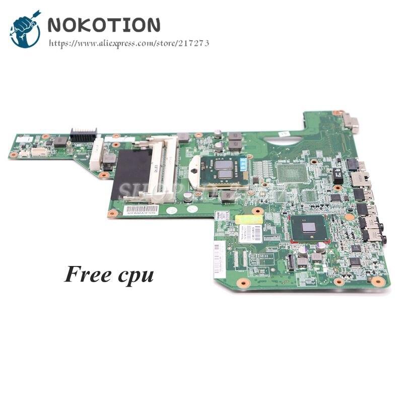 NOKOTION 615849-001 605903-001 Laptop płyta główna do HP G62 G72 CQ62 HM55 UMA DDR3 płyta główna darmowe CPU