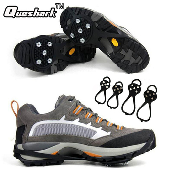 1Pair Hot Newest Walking Cleat Ice Gripper Anti Slip Ice Snow Walking Shoe Spike Grip Climbing Hiking Skiing Crampon Ice Claws okulary wojskowe