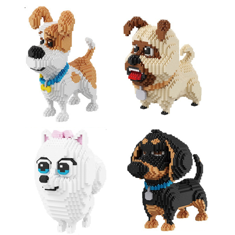 America Cartoon Movie Image Puppy Nanoblock Secret Life Of Pets Bricks Max Gidget Mel Buddy Dog Micro Diamond Building Block Toy