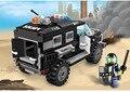 1110 serie de la ciudad swat policía car building block sets enlighten niños ladrillos educativos juguetes blockset compatible con