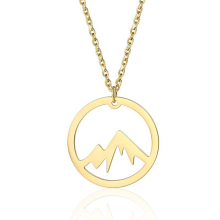 The Mountains Are Calling Mountain Pendant Necklace Gold Adventure Natural Minimalist Necklaces Jewelry In Stainless Steel