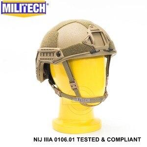 Image 4 - ISO Certified MILITECH CB NIJ Level IIIA 3A FAST OCC Liner High XP Cut Bulletproof Aramid Ballistic Helmet With 5 Years Warranty