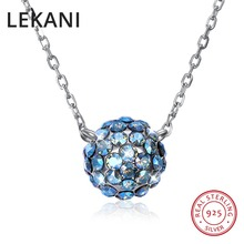 LEKANI Colorful Ball Pendant Necklaces Crystals From Swarovski 925 Sterling  Silver Beads Collars Fine Jewelry For c04673258d0e