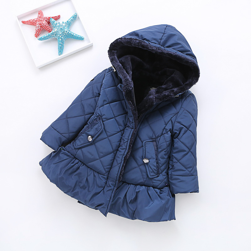 Kids Cotton-padded Clothes Outerwear 2017 New Brand Baby Girls Winter Thick Hooded Down/Parkas Child Korean Girls Jacket/Topcoat children winter coats jacket baby boys warm outerwear thickening outdoors kids snow proof coat parkas cotton padded clothes