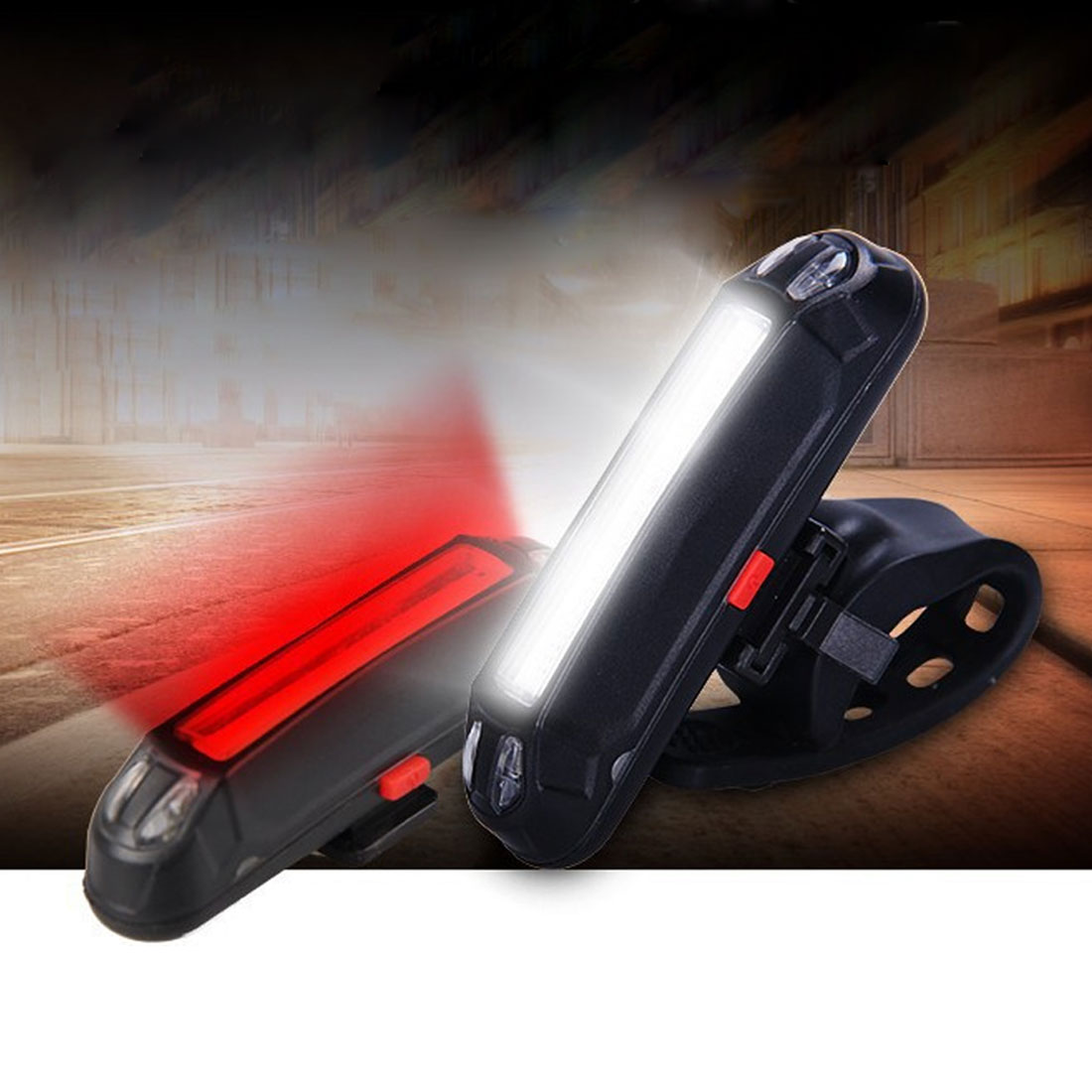 100 Lumens Rechargeable COB LED USB Mountain Bike Tail Light Taillight Safety Warning Bicycle Rear Light luz bicicleta usb все цены
