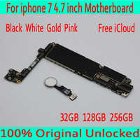 with Touch ID white Gold Black Pink for iphone 7 Motherboard with OS System,Original unlocked for iphone 7 Mainboard,Good Tested