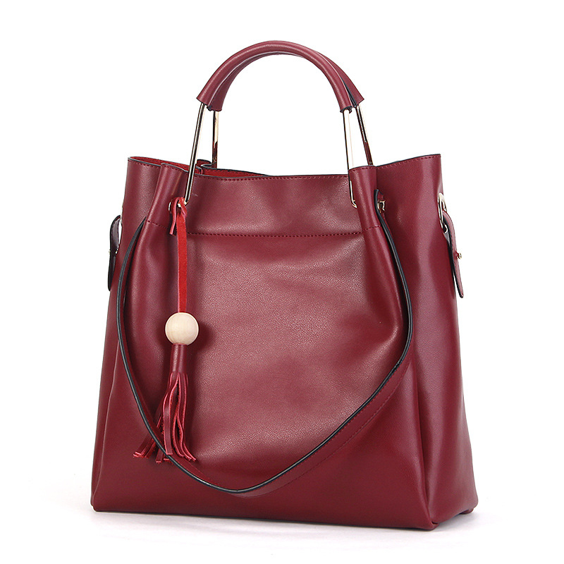New winter leather handbag high quality cow leather tote bags fashion women shoulder messenger bags composite bags the new high quality imported green cowboy training cow matador thrilling backdrop of competitive entrance papeles