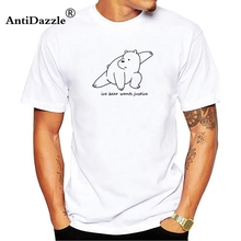 d7a01e86dad Antidazzle We Bare Bears Ice Bear Wants Justice Tee short sleeve men cotton DIY  T-