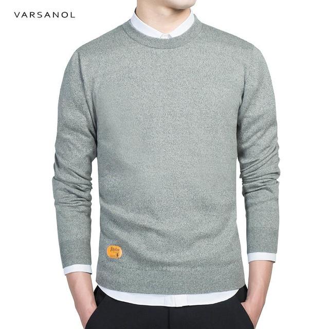 Varsanol Mens Cotton Sweater Pullovers Men O Neck Sweaters Jumper ...