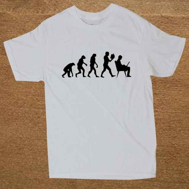 9d3c0321 Evolution Computer Custom Funny T Shirt Tshirt Men Cotton Short Sleeve T- shirt Top Tees