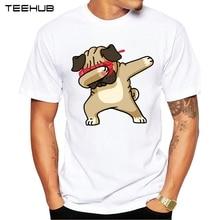 Fashion Dabbing Pug T-Shirt Newest Men Funny T Shirts Dabbing Unicorn/Cat/Zebra/Panda Tops Hip Hop Tee
