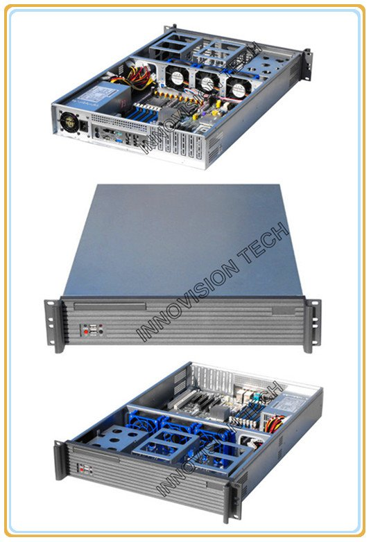 Compact 1U rackmount chassis RC2650 with Elegant Aluminum Front panel compact