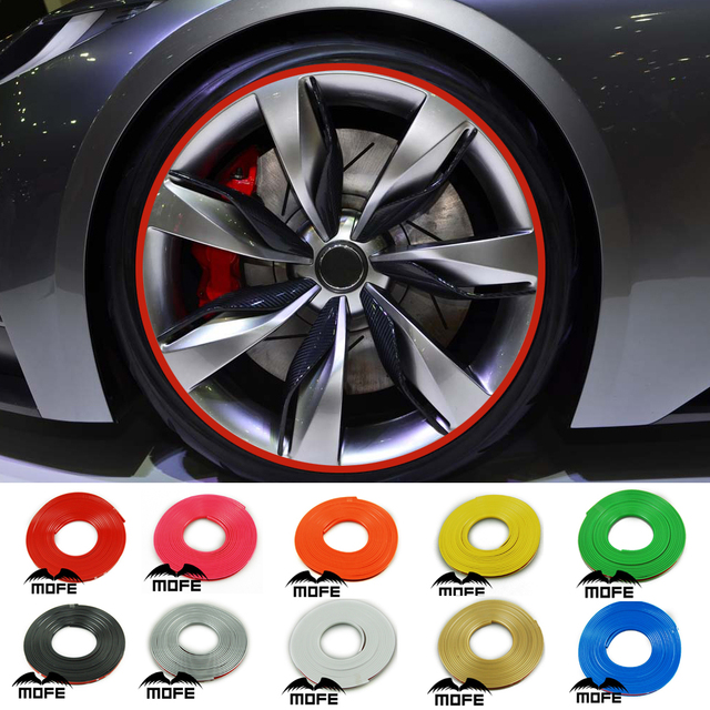 MOFE Universal 8M Rim Guard Rubber Car Wheel Protector ...