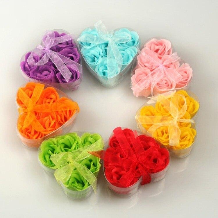 200box wedding favor rose flower soap bridal shower favor gift baby shower favours kids birthday guest present keepsake