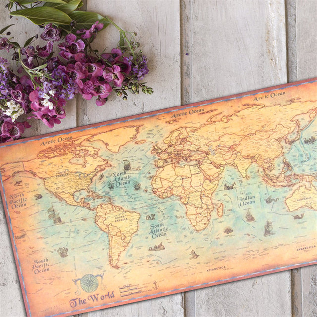 Large size world map vintage poster old style ocean sea maps canvas large size world map vintage poster old style ocean sea maps canvas paper oil painting for gumiabroncs Choice Image