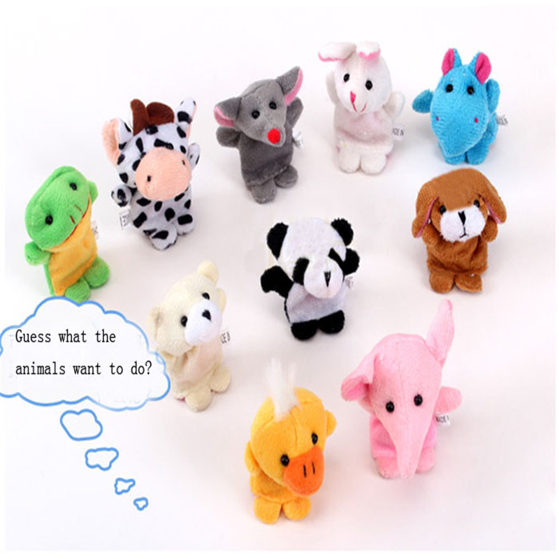 Toys Finger-Puppet Animal -30 10pcs Storytelling-Finger-Props Gifts Plush Baby Early-Education