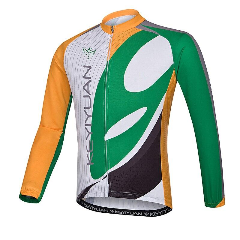 KEYIYUAN cycling suits breathable long-sleeved shirt quick-drying cycling clothing men summer sun mountain bike riding a bicycle