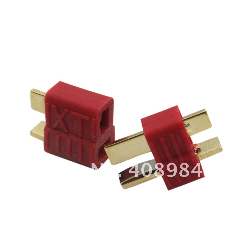 100 pairs male  female  deans style XT plug  with Golden grip  T plug Anti-skid For RC ESC Battery hot new deans style xt plug nylon t connector golden grip slip t plug anti skid for rc esc battery