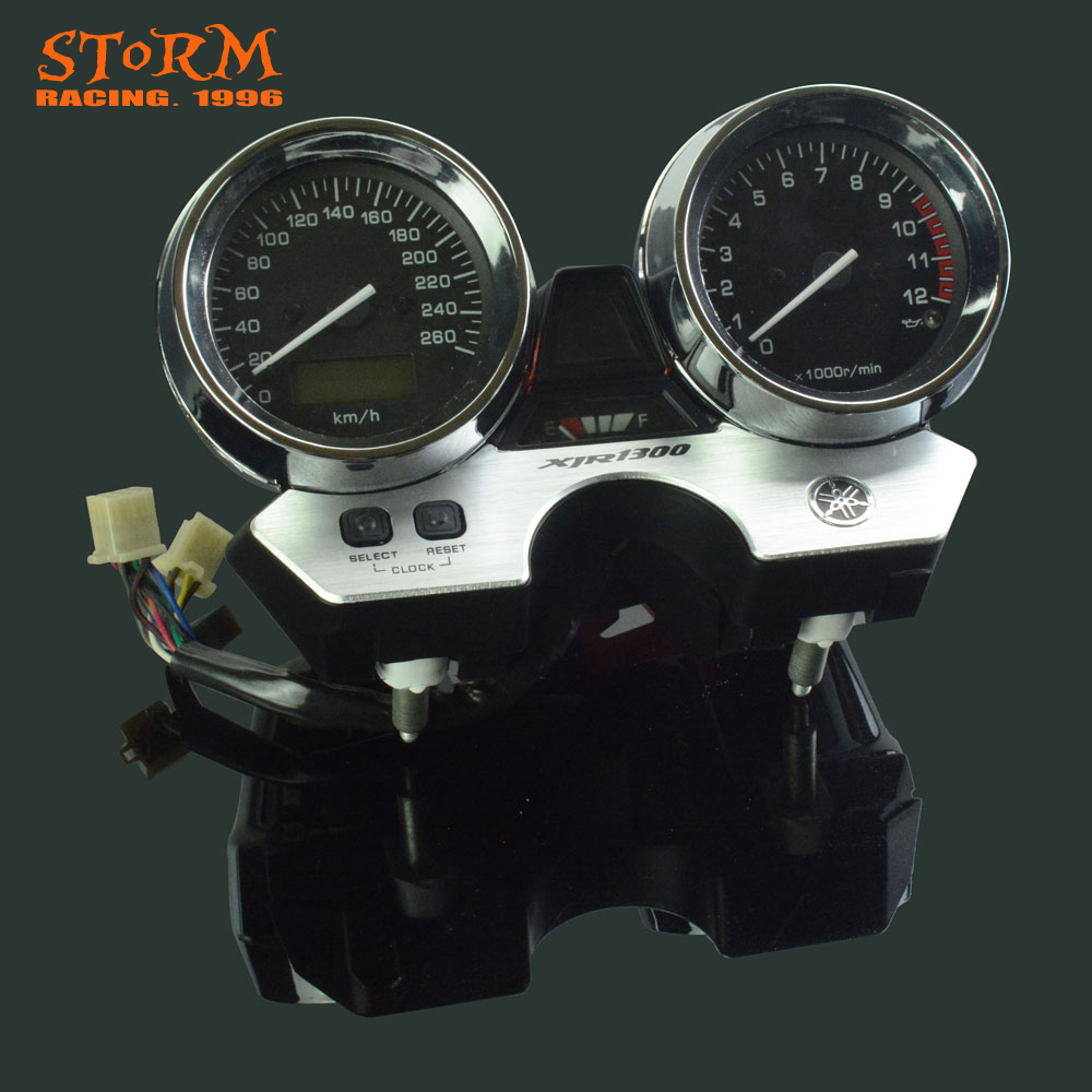 Motorcycle Speedometer Tachometer Odometer Display Gauges For YAMAHA XJR1300 XJR 1300 1998 1999 2000 2001 2002 2003-in Instruments from Automobiles & Motorcycles    1
