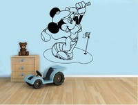 New Arrival Mickey Mouse Golf Wall Decal Cartoon Vinyl Sticker Wall Art Decor Children S Kids